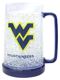 West Virginia Mountaineers Crystal Freezer Mug