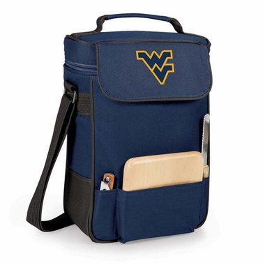 West Virginia Duet Compact Picnic Tote (Navy)