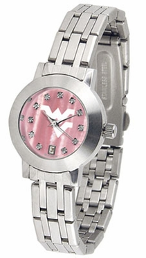 West Virginia Dynasty Women's Mother of Pearl Watch