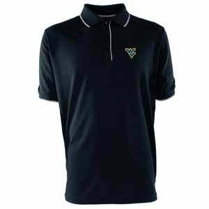 West Virginia Mens Elite Polo Shirt (Team Color: Navy) - Large