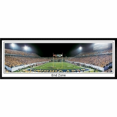 West Virginia End Zone Framed Panoramic Print