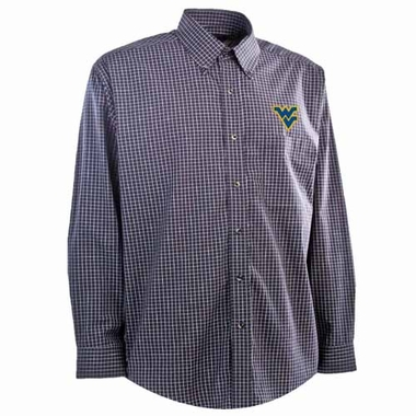West Virginia Mens Esteem Button Down Dress Shirt (Team Color: Navy)