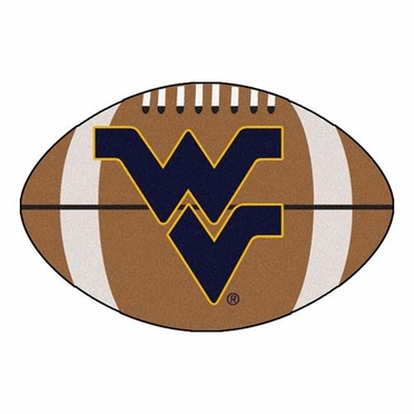 West Virginia Football Shaped Rug