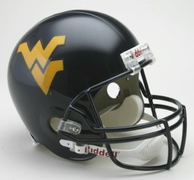 West Virginia Mountaineers Riddell Deluxe Replica Helmet