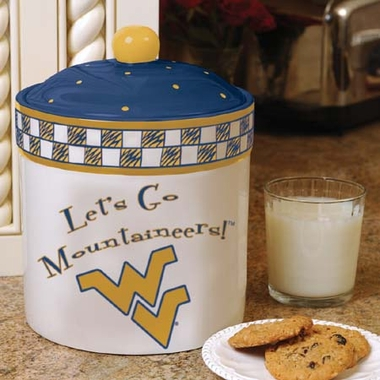 West Virginia Gameday Ceramic Cookie Jar