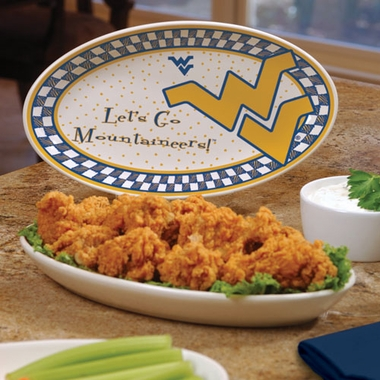West Virginia Gameday Ceramic Platter