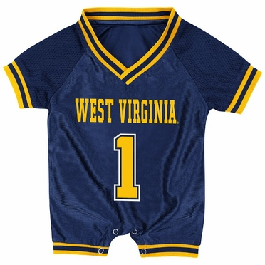 West Virginia Infant Pounce Football Jersey Onesie