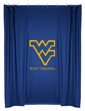 West Virginia Jersey Material Shower Curtain
