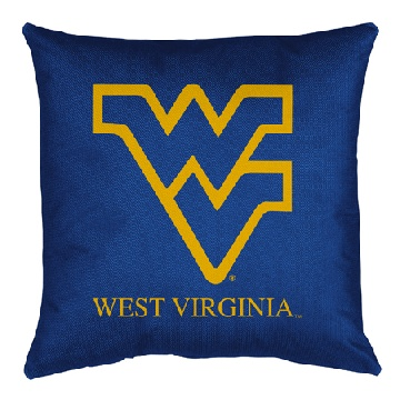 West Virginia Jersey Material Toss Pillow
