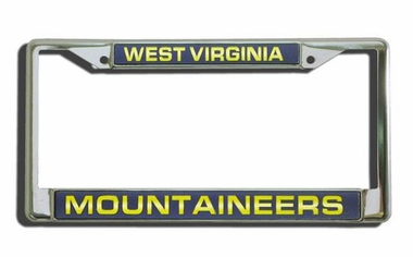 West Virginia Laser Etched Chrome License Plate Frame