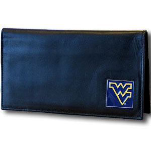 West Virginia Leather Checkbook Cover (F)