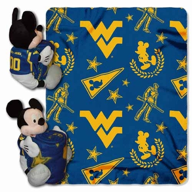 West Virginia Mickey Mouse Pillow / Throw Combo