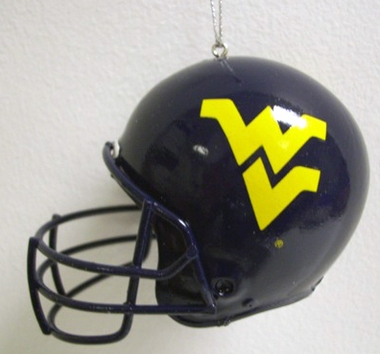 West Virginia Mini Helmet Ornament