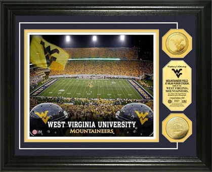 West Virginia Mountaineers West Virginia University Mountaineer Field 24KT Gold Coin Photomint