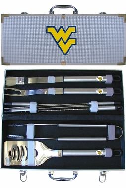 West Virginia Mountaineers 8pc. BBQ Set w/Case