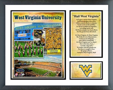 West Virginia Mountaineers Framed Milestones & Memories