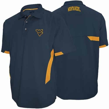 West Virginia Mountaineers Green Light Navy Performance Polo Shirt