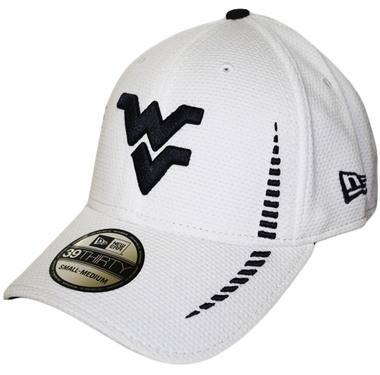 West Virginia Mountaineers New Era 39THIRTY Training Flex Fit Hat - White