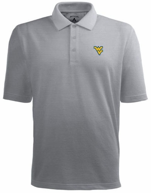 West Virginia Mens Pique Xtra Lite Polo Shirt (Color: Gray)