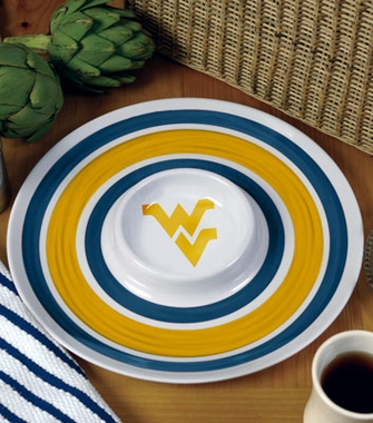 West Virginia Plastic Chip and Dip Plate