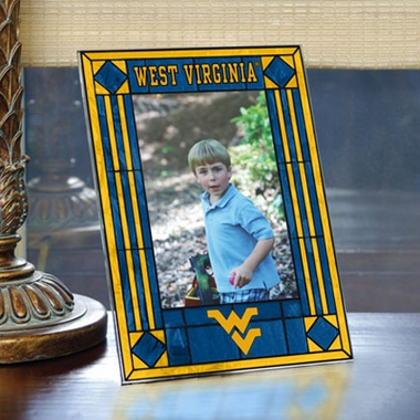 West Virginia Portrait Art Glass Picture Frame