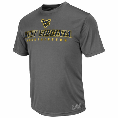 West Virginia Rush Short Sleeve Performance Shirt (Charcoal)