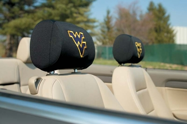 West Virginia Set of 2 Headrest Covers (F)
