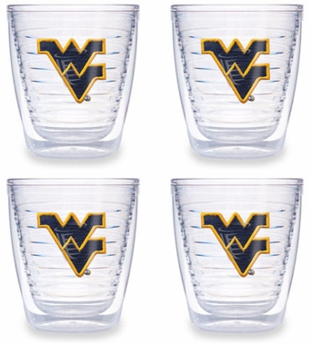 West Virginia Set of FOUR 12 oz. Tervis Tumblers
