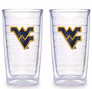 West Virginia Set of TWO 16 oz. Tervis Tumblers