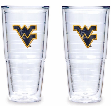 "West Virginia Set of TWO 24 oz. ""Big T"" Tervis Tumblers"
