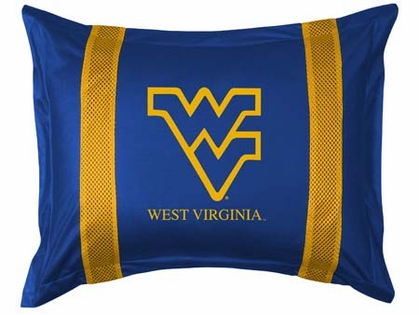 West Virginia SIDELINES Jersey Material Pillow Sham