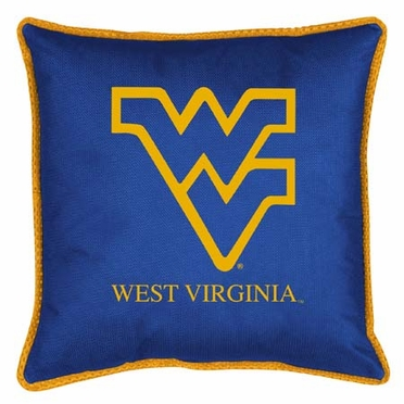 West Virginia SIDELINES Jersey Material Toss Pillow