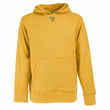 West Virginia Mens Signature Hooded Sweatshirt (Color: Gold)