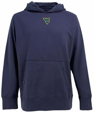 West Virginia Mens Signature Hooded Sweatshirt (Team Color: Navy)