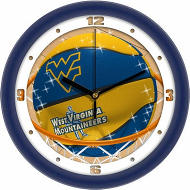 West Virginia Slam Dunk Wall Clock