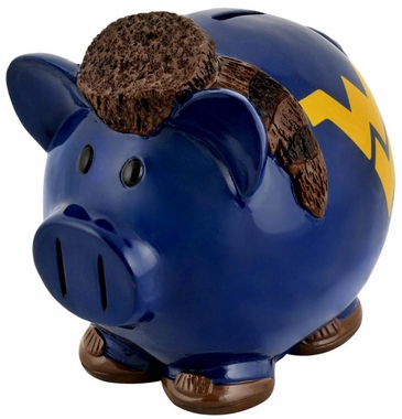 West Virginia Mountaineers Piggy Bank - Thematic Small