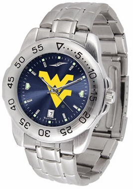 West Virginia Sport Anonized Men's Steel Band Watch