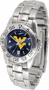 West Virginia Sport Anonized Women's Steel Band Watch