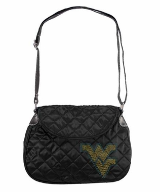 West Virginia Sport Noir Quilted Saddlebag