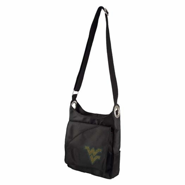 West Virginia Sport Noir Sheen Crossbody Bag