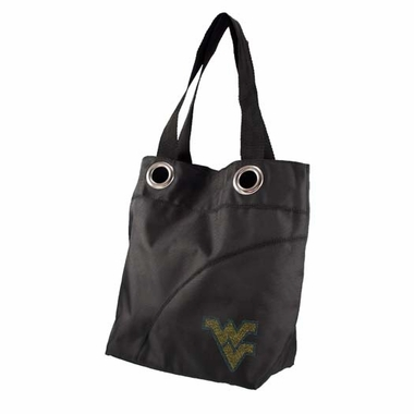 West Virginia Sport Noir Sheen Tote