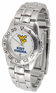 West Virginia Sport Women's Steel Band Watch