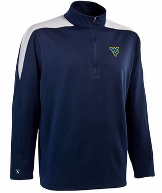 West Virginia Mens Succeed 1/4 Zip Performance Pullover (Team Color: Navy)