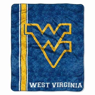 West Virginia Super-Soft Sherpa Blanket
