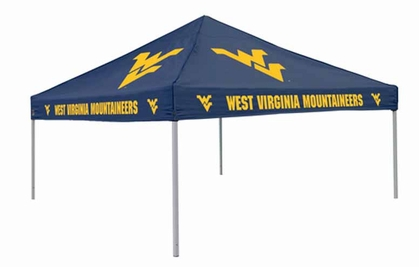 West Virginia Team Color Tailgate Tent