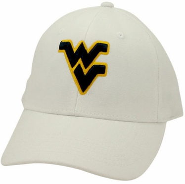 West Virginia White Premium FlexFit Baseball Hat