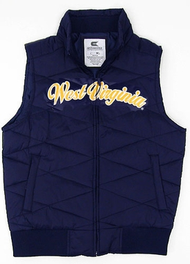 West Virginia Womens Bubble Vest