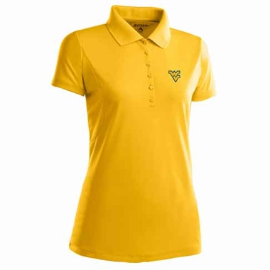 West Virginia Womens Pique Xtra Lite Polo Shirt (Alternate Color: Gold)