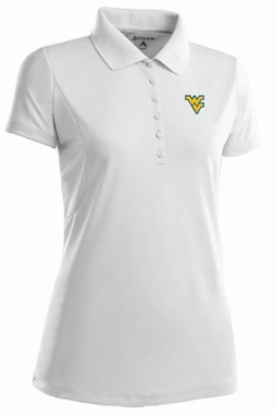 West Virginia Womens Pique Xtra Lite Polo Shirt (Color: White)