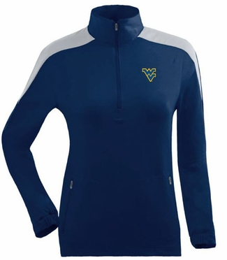 West Virginia Womens Succeed 1/4 Zip Performance Pullover (Team Color: Navy)